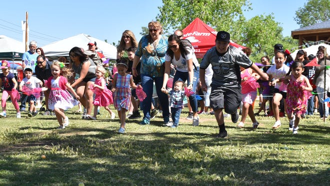 Children of all ages were able to hunt Easter eggs during Easter in the Park, a long-standing event hosted by the City of Alamogordo and Burt Broadcasting.