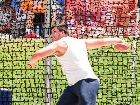 Chambersburg's Kelton Chastulik competed in the boys AAA discus at the PIAA Track & Field Championships.