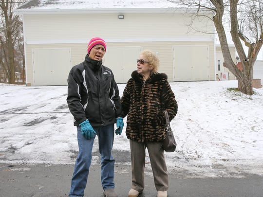 Chestnut Ridge residents, Hilda Kogut, left, and Carole