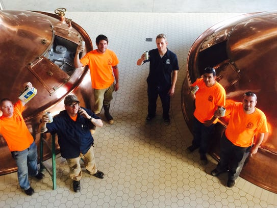 Some of the Ballast Point Brewing Co. crew in San Diego.