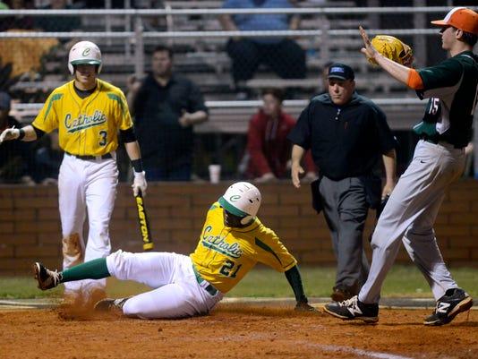 Catholic High School hosts Mosley baseball