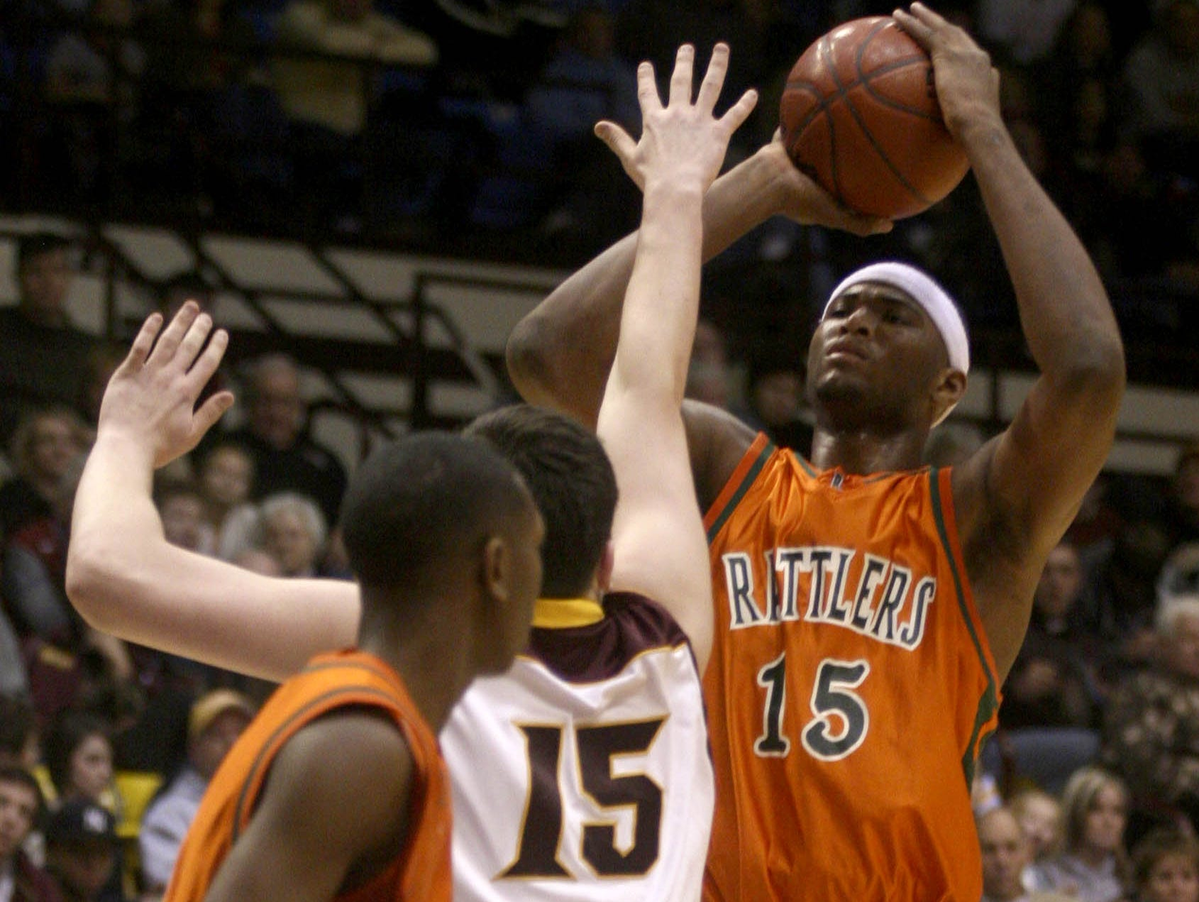 Leflore's Demarcus Cousins shoots over Christ the King's Dominyka Milka at a Tournament of Champions game.