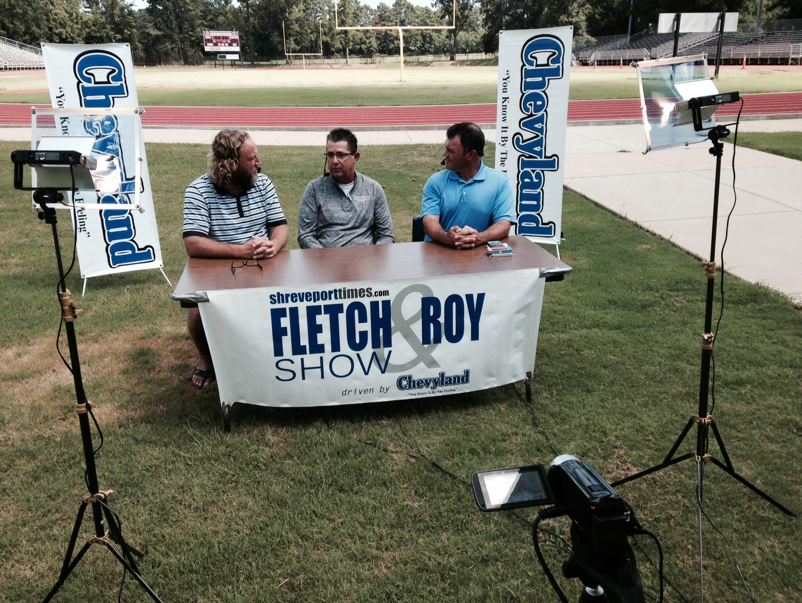 Haughton head coach Rodney Guin (center) joined Tim Fletcher (left) and Roy Lang III on this week's Fletch and Roy Show.