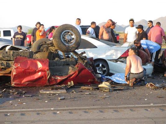 5 dead in collision between truck, 18-wheeler