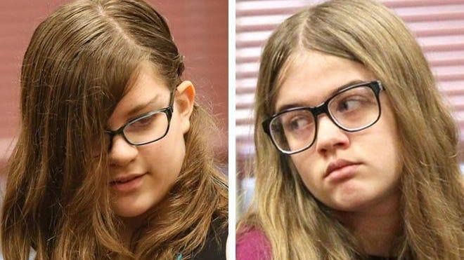 Anissa Weier (left) and Morgan Geyser (right).