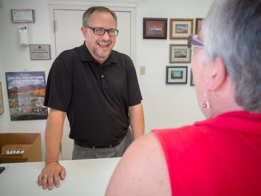 Greg Groves, owner of Picture Frame Outlet and Gallery,