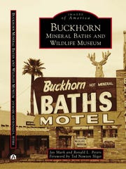 "The book cover of ""Buckhorn Mineral Baths and Wildlife Museum,"" which goes on sale Monday, Nov. 20, 2017."