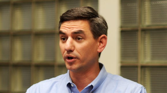 North Carolina Rep. Brian Turner speaks during a 2014
