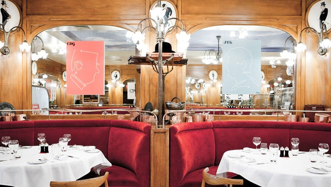 Chef Alain Ducasse modeled New York City's Benoit after the original restaurant in Paris, which opened in 1912 and was passed on to him in 2005.