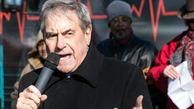 U.S. Rep. John Yarmuth continued his recent crusade of opposition to President Trump's planned end to the Affordable Care Act on Saturday as a featured speaker at the national Save My Care Bus Tour in Portland.