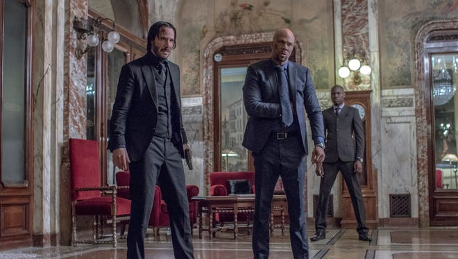 Keanu Reeves and Common in 'John Wick: Chapter 2.'