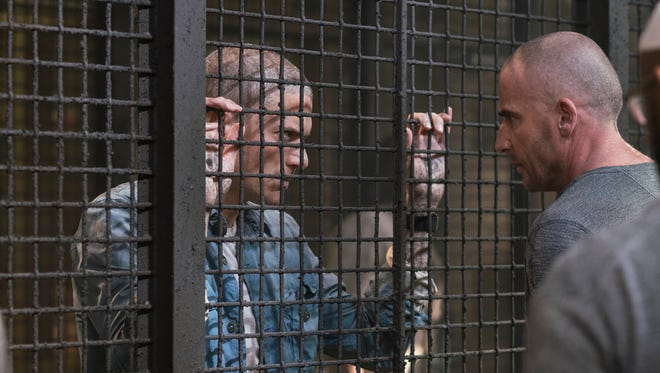 Wentworth Miller, left, and Dominic Purcell return to the 'Prison Break' revival.