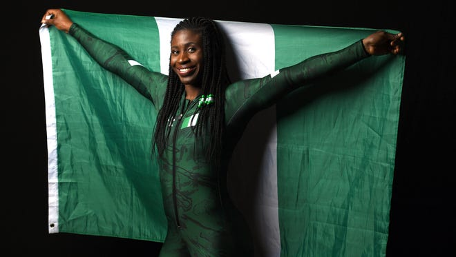 Former Eastern High and University of Kentucky track star Simidele Adeagbo will represent her home country of Nigeria in the skeleton competition at the Winter Olympics.
