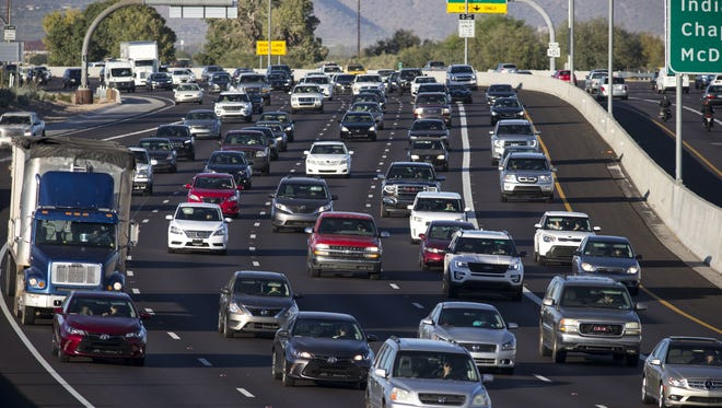 Drivers can expect some delays on Phoenix-area freeways this weekend due to roadwork.