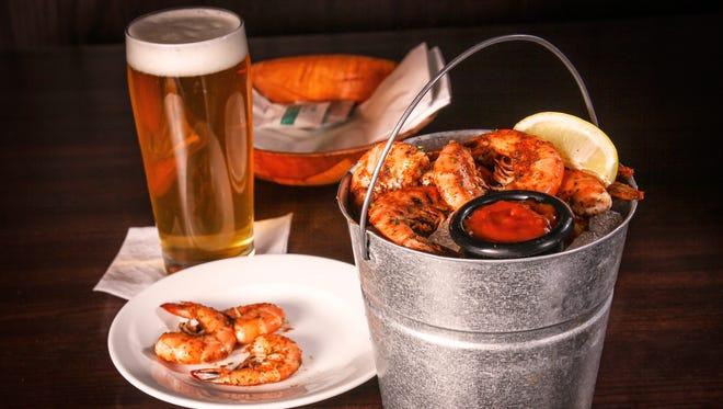 Peel and Eat Shrimp at Rusty Bucket.
