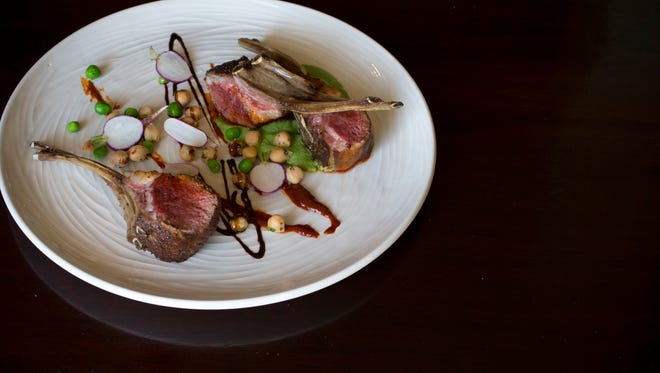 Moroccan Spiced Lamb by Chef Gio Osso, March 23, 2015, at Virtu in Scottsdale.
