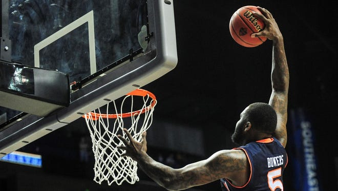 Auburn center Cinmeon Bowers says Auburn is ready to play top-ranked Kentucky in today's SEC tournament semifinals in Nashville