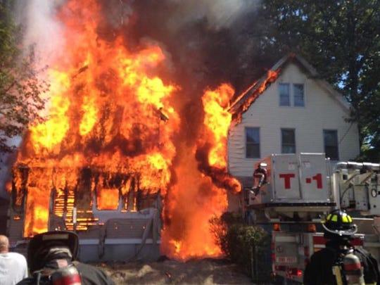 Firefighters respond to a blaze on Union Avenue on