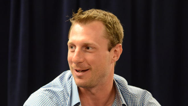 Jul 11, 2016: National League pitcher Max Scherzer (31) of the Washington Nationals of the Washington Nationals during media day for the MLB All Star Game at the Grand Hyatt.