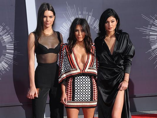 Kim with Kendall and Kylie