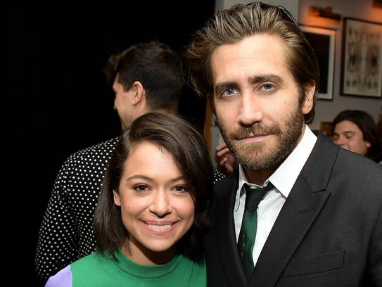"Tatiana Maslany and her ""Stronger"" co-star Jake Gyllenhaal"