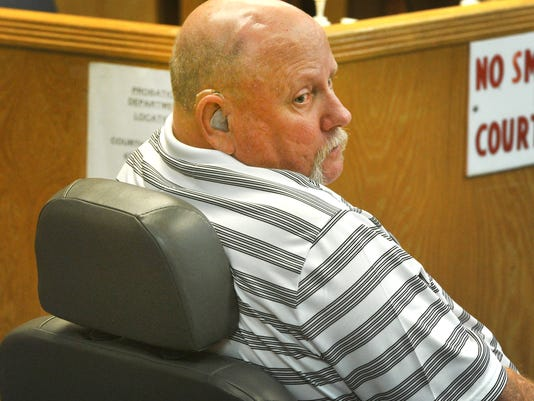 Mathews in courtroom