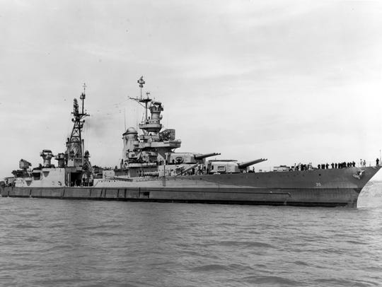 The USS Indianapolis shown off the Mare Island Navy