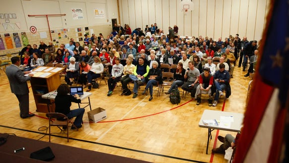 A record number of voters from precinct 36 attend the