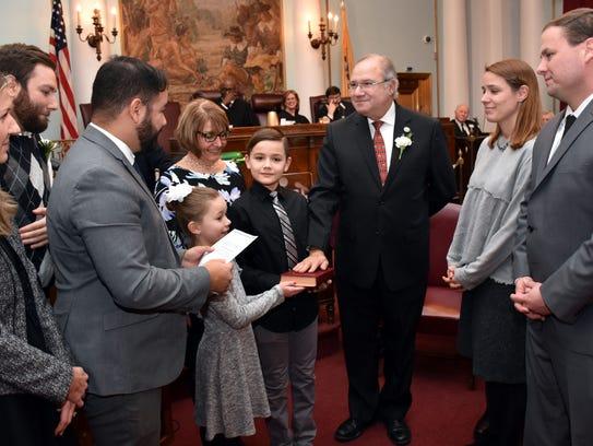 Union County Freeholder Angel G. Estrada is sworn in
