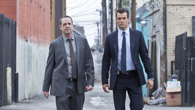 Dean Winters, left, is Detective Russ Agnew and Josh Duhamel is FBI Special Agent Milt Chamberlain in CBS' 'Battle Creek.'