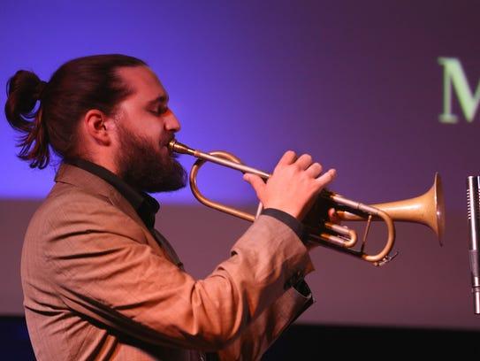 Mario Rom of Mario Rom's Interzone performing at the