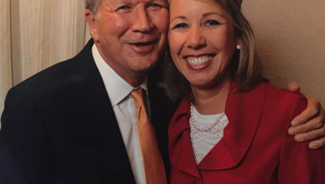 Ohio governor John Kasich and Megan Mullen met in Jackson last week.