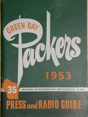 The Green Bay Packers 1953 media guide.