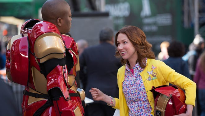"Tituss Burgess and Ellie Kemper arrive on Netflix Friday in ""Unbreakable Kimmy Schmidt."""