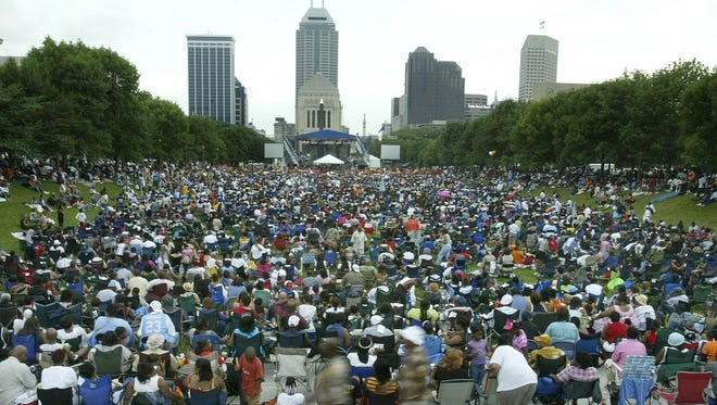 Music fans fill American Legion Mall during the 2004 edition of Indiana Black Expo Summer Celebration. This fall, American Legion Mall is expected to be the site of a new music festival titled Evermore.