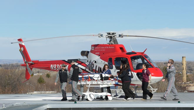 Medical helicopters can now land on the roof of Poudre Valley Hospital. The helipad was part of PVH's expansion that opened in February.