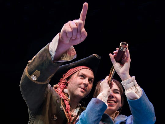 Eric D Pasto-Crosby, left, as Long John Silver and