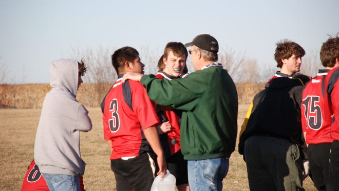 Jeff LeCaptain, center, coached the Green Bay Mavericks high school rugby team for 18 years.