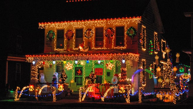 This holiday light display put up by Darrel Moyer features about 30,000 lights this year. You can see this location at 117 W. Penn Ave. in Cleona.