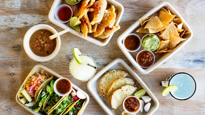 A variety of dishes at Taco Chelo.