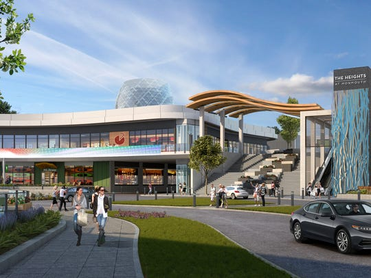 A rendering of the proposed The Heights at Monmouth,