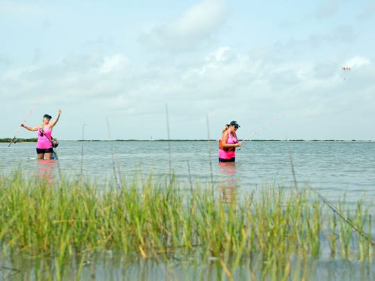 Sisters, Amy Garcia and Hunter Connor are the original members of the Bayboy Bunnies Babes on the Bay fishing team.