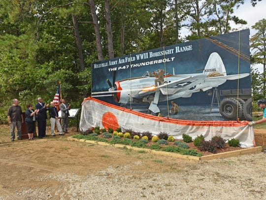 A mural was unveiled at the at WW II boresight range