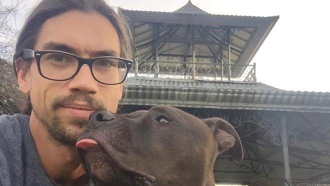 Brett Harbour's faithful companion is his dog, Tars. The Iraq War veteran suffers PTSD and had his van stolen recently.