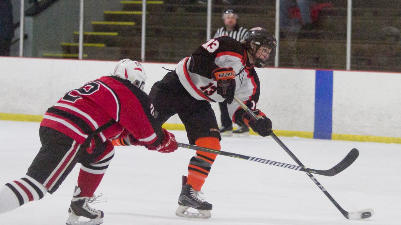 Highlights and interviews from Brighton's 8-2 season-opening hockey victory over Canton.
