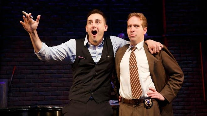 """Joe Kinosian (left) and Ian Lowe in """"Murder for Two"""" at George Street Playhouse in New Brunswick."""