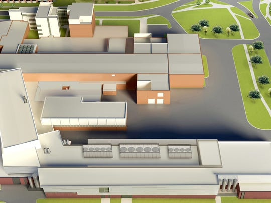 An artist's rendering shows what the Facility for Rare
