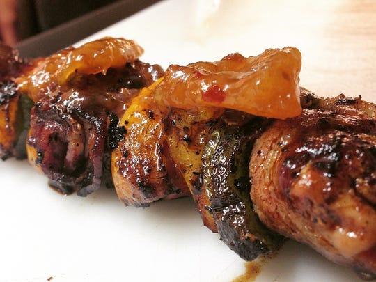 Broaddus Burgers serves off-menu duck kabobs during November and December.