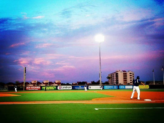 The gorgeous view from the Blue Wahoos Stadium makes a ball game a great place for date night.