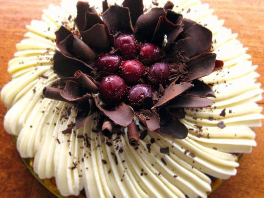 The delicious Black Forest Tart at The Flaky Tart.